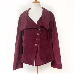 Lane Bryant Asymmetrical Corduroy Jacket